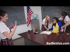 Naughty Lesbian Women Experiment with Eating Te...