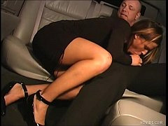 Spoiled rich girl blows limo driver in limousine. (Cum shot in mouth) | More videos with this girl - likefucker.com