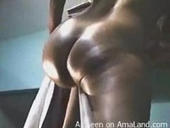 Black GF Booty Shake and Cum on Ass!