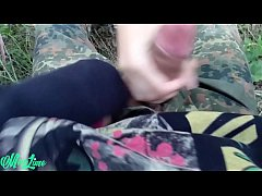 Hot teen fucked and sucked in wood because she was forced