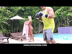 FamilyStrokes - Hot Step-Sis Can't Resist Fucking Bro