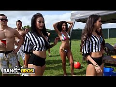 BANGBROS - Dorm Invasion College Party Outdoors With Curvy Pornstars