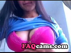 Hot Amateur Teen with Big Natural Tits on Masturbate on Webcam www.FAQcams.com