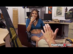 Amateur Latina Tries to Sell Boyfriend's Shotgun at Pawn Shop xp15506
