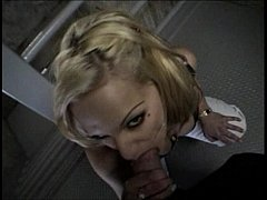 Fuck blonde in car after at home