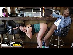 BANGBROS - Busty British Babe Angela White Fucks BFF's Brother Behind Her Back