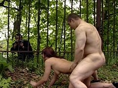 Russian Couple in the Woods