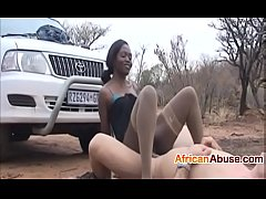 African babe enjoys a good fuck outside