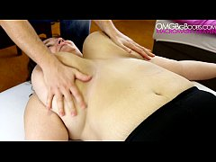 Big natural breasts massage - amateur BBW
