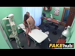 HD Fake Hospital Sexy reporter gets to the point with blowjob and hard sex
