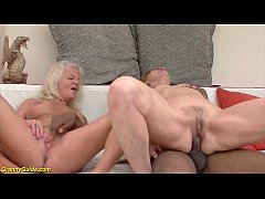 rough interracial anal granny orgy