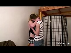 Bro Seduce Step-Sister in Skirt to Fuck when Ho...