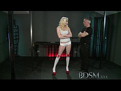 BDSM XXX Hooded slaves are put to the test by strong dominant Doms