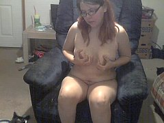 cute nerdy wife strips and masturbates