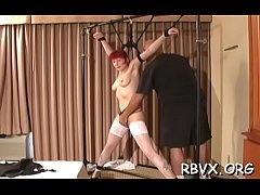 Amoral bondage time with teat and pussy play