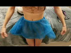 Little sister wants to play dress up, instead she gets spanked and treated like a big girl. Creampie POV