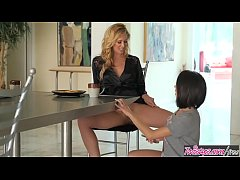 Blonde milf (Cherie DeVille) eats (Darcie Dolce) for breakfest - Twistys