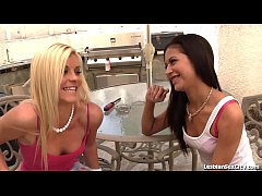 Cute Teen Seduced By Hot Blonde Lesbian