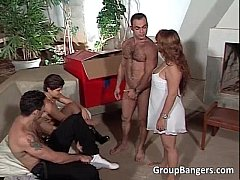 Horny MILF's found young boys for round
