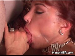 Foxy redhead milf enjoys in self playing