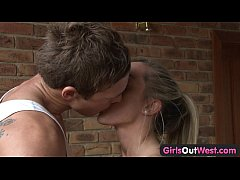 Girls Out West - Sporty couple making love
