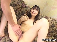 Asian cuttie has a doggy style fuck with her man