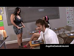 Latina Teacher Angelina Castro Forces Student T...