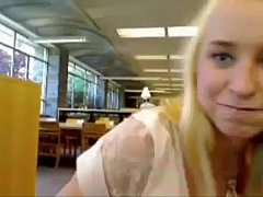 Blond girl squirts in public school - more videos of her on freakygirlcams.co.uk