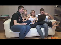 18videoz - These teens start with an innocent game