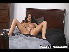 Pretty Brunette Caught Masturbating On Cam