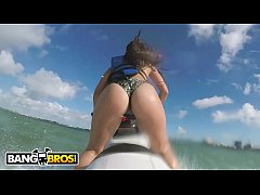 BANGBROS - Latina Pornstar Kelsi Monroe Shows Off Big Ass, Rides Jetski and Cock!