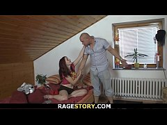 Czech GF gets her shaved cunt drilled hard