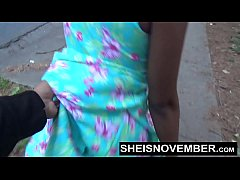 Blonde Young Ebony In Street Blowjob Sloppy Head By Msnovember POV Risky Public