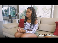 Black beauty blows on POV casting