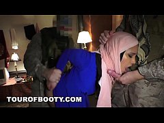TOUROFBOOTY - Muslim Woman In Hijab Takes Western Cock For Cash Money