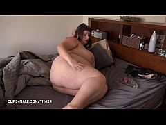 BBW Female Solo Home Alone feeling her hairy cunt and bug beautiful tits