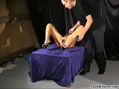 fetish and electro bdsm of blonde Crystel