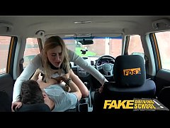 Fake Driving School Horny blonde American learners squirting orgasms