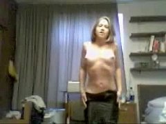 Girl Having Fun with Webcam