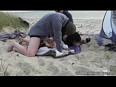 wife fucked by plenty of strangers on public beaches