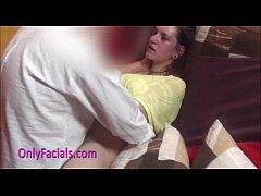 Huge facial for nasty redhead teen