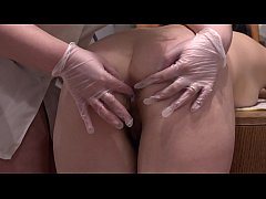 Anal fisting and stretching a hole in juicy ass, this is probably the best medical examination for a lesbian.