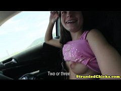 Hitch hiking teen wants drivers cock