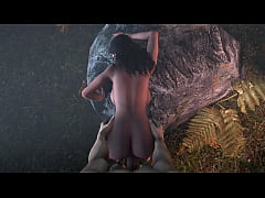 The Witcher 3 Yennefer having sex in the woods