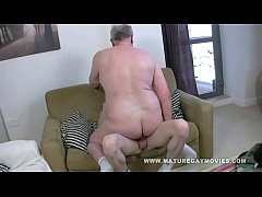 Fat mature gets his ass fucked