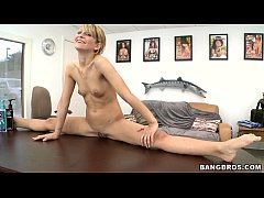 Petite blonde spinner, Caprice, gets a face full of dick (ff10279)