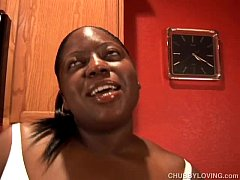 Busty black BBW beauty gets her tits out and has a nice wank
