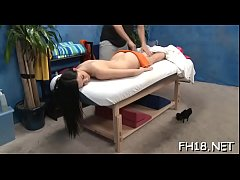 Hot eighteen year old brunette bitch gets fucked hard by her massage therapist!