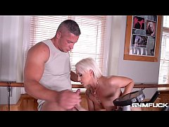 Gym fuck XXX action makes Christina Shine blow dude's thick hard cock