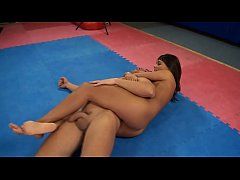 melanie memphis vs. mugur 2. - nude erotic mixed wrestling w blowjob